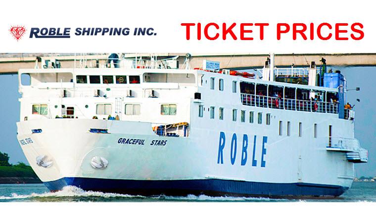 Roble Shipping Fare Cebu Ormoc Hilongos Baybay Naval Catbalogan