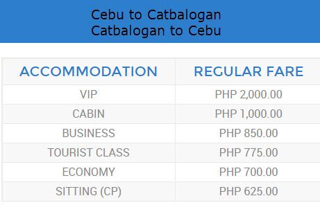 roble shipping fare cebu to catbalogan