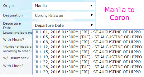 2Go Travel Manila to Coron JULY 2016