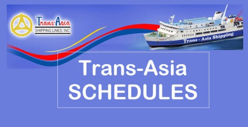 Trans-Asia Shipping Schedules