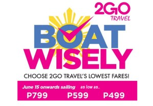 2Go Promo Available Only on Election Day – Book Immediately on May 9