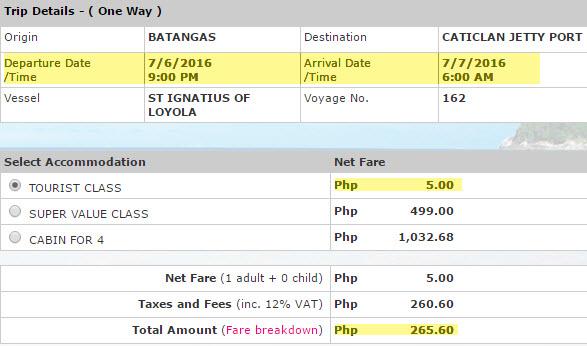2Go 5 Pesos Promo to Boracay