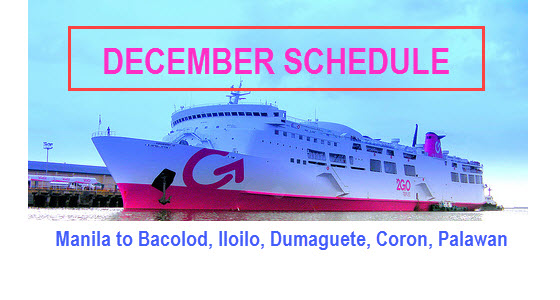Go Travel Schedule Manila To Bacolod December