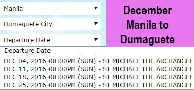 December 2Go Manila to Dumaguete