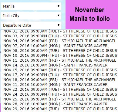 Superferry November Manila to Iloilo
