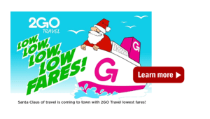 2Go Promos 2017 Available for January, February, March Travel Dates
