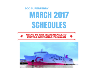 2GO Travel Schedules MARCH 2017 To/From Manila