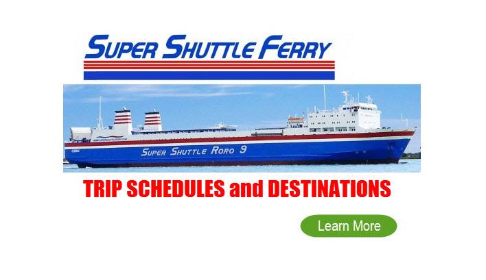 Super Shuttle Ferry Schedules 2017