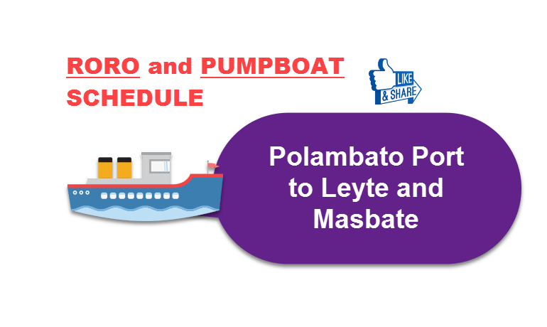 Polambato port to Leyte and Masbate