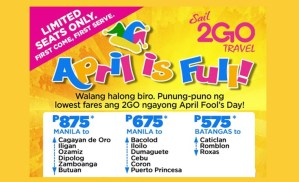 New 2Go Promo Tickets for June, July, August, September 2017