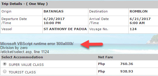 Batangas to Romblon 2Go rate