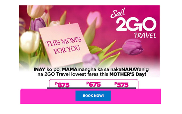 2go travel promo june july august 2017