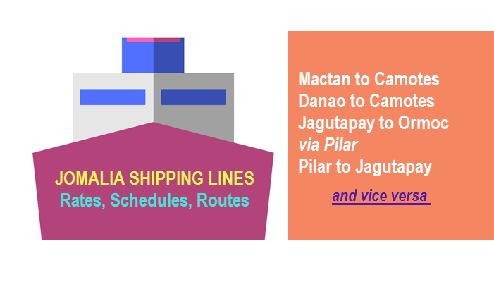 Jomalia Shipping Lines Rates Schedules Fares