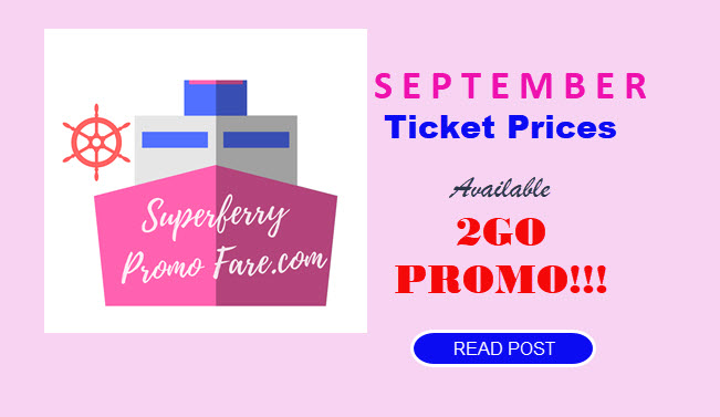 2go promo fare September