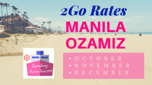2Go Rates Manila to Ozamiz