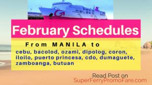 2Go Travel Schedules 2018