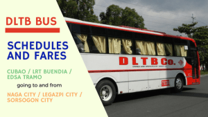 DLTB bus schedules fares manila to bicol