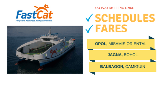 fastcat schedules fares bohol camiguin opol