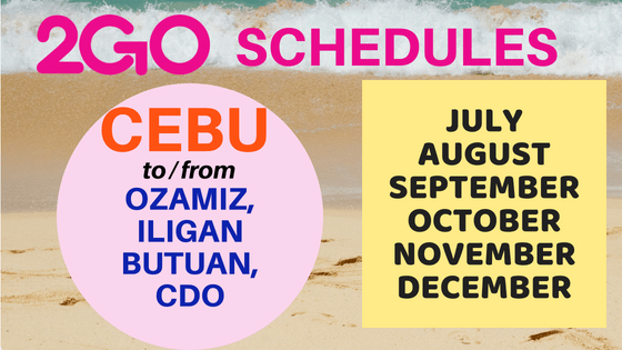 2go schedules cebu to mindanao 2018