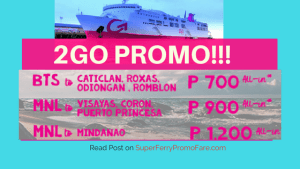 2go travel promo august and september