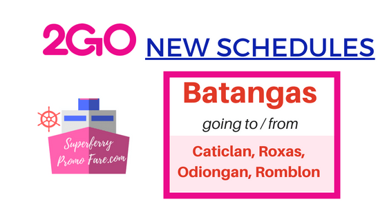 2go batangas new schedules