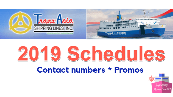 transasia shipping schedules 2019