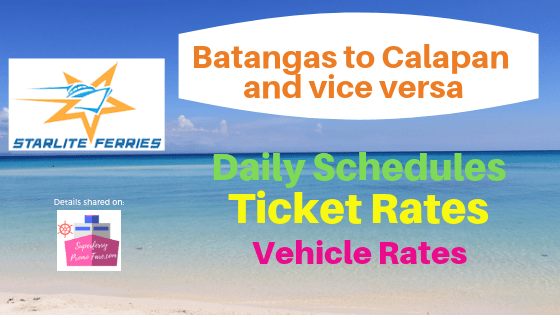 starlite ferries batangas to calapan