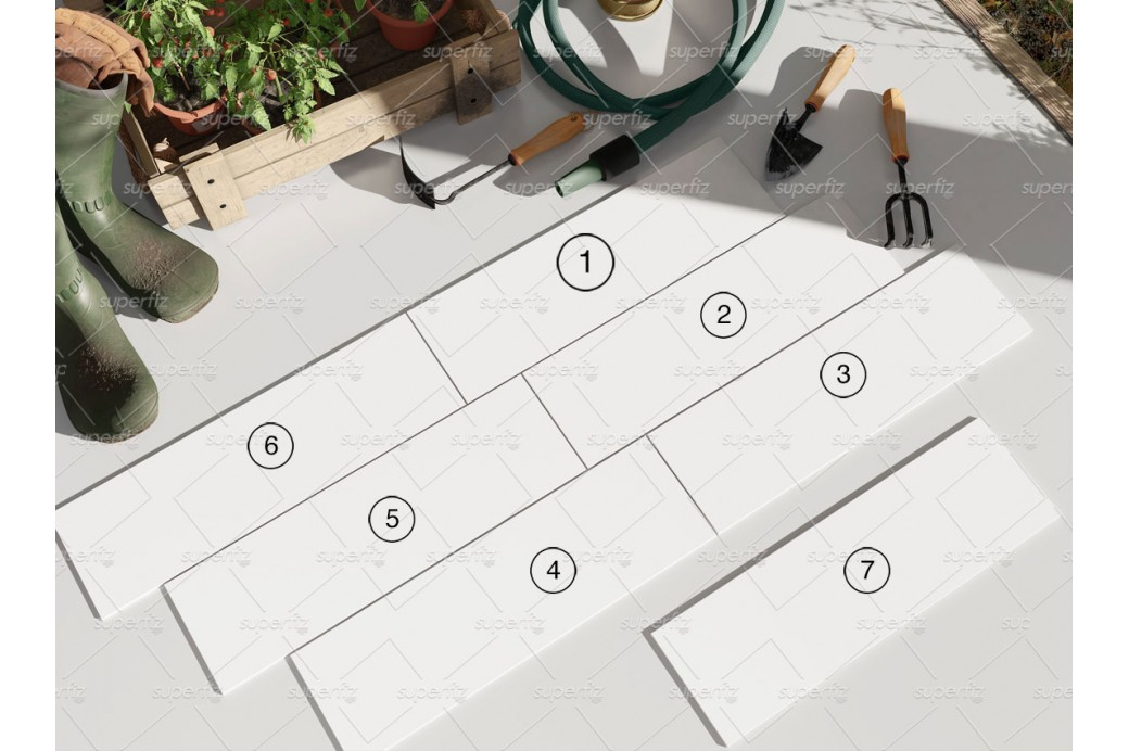 Floating letterhead with envelope mockup. Parquet Ceramic Tile Mockup Outdoor