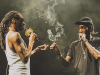 An image of Snoop Dogg and Wiz Khalifa on stage