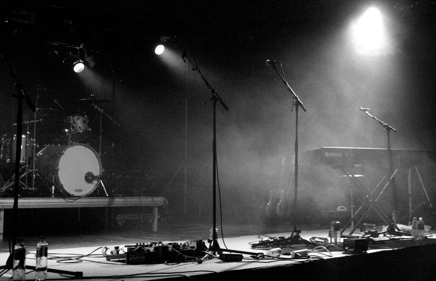 An image of an empty stage