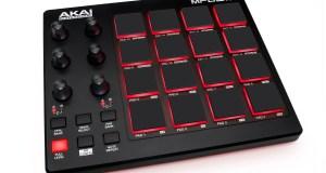 A promo image of the Akai MPD218 midi controller