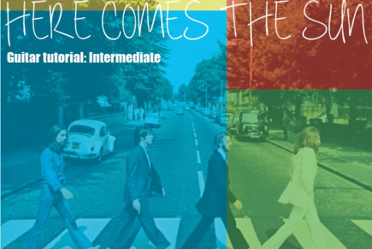 An image of the beatles here comes the sun