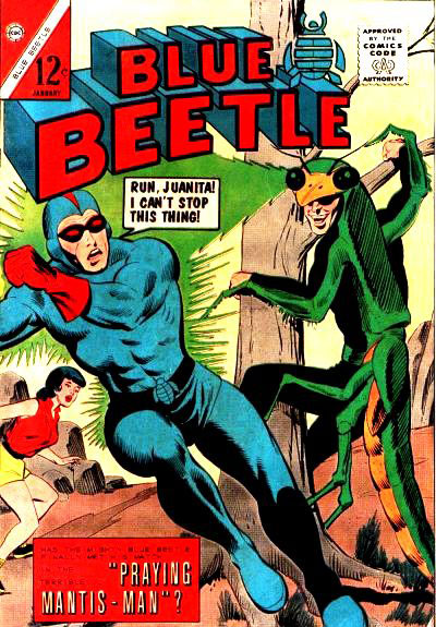 Dan Garret - the original Blue Beetle in Charton's Blue Beetle Vol. 1 series