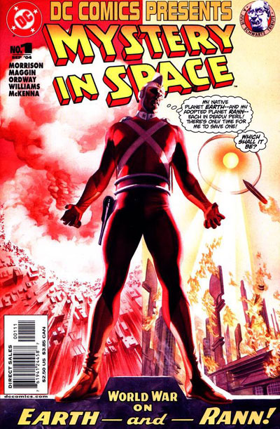 The 2004 remake cover of Mystery in Space #82 featuring Adam Strange