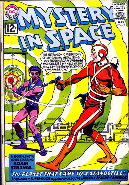 Mystery In Space #75 featuring Adam Strange meeting the JLA!
