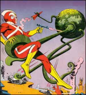 Adam Strange vs the Living Planet!