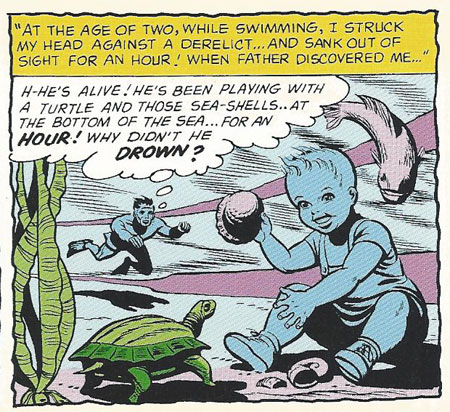 Baby Aquaman can't drown!