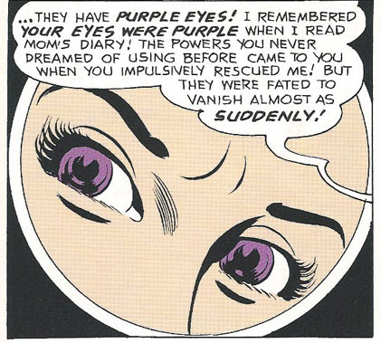 Aquagirl's purple eyes