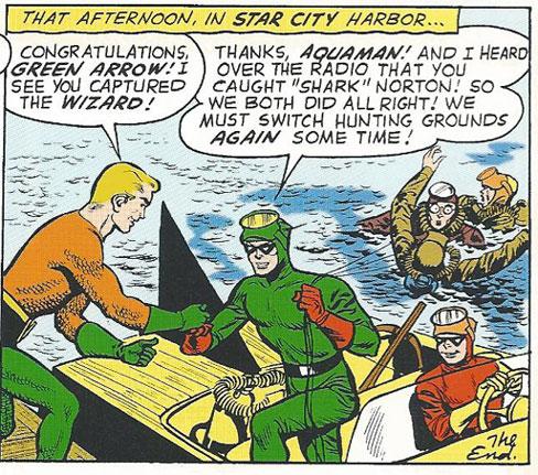 Aquaman and Green Arrow meet up