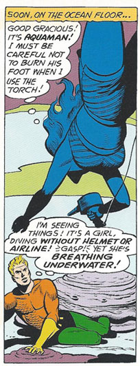 Lisa Morel saves Aquaman