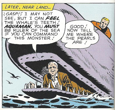 In a whale's mouth thanks to Aquaman