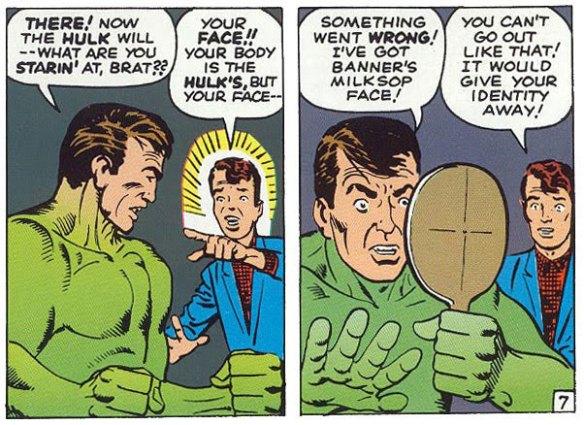 Hulk has Banner's head!