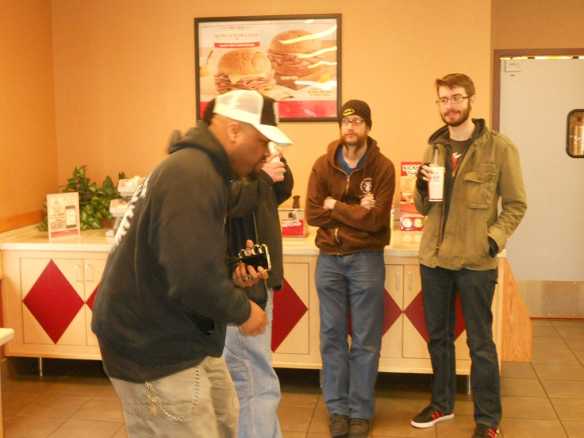 Getting down at Arby's