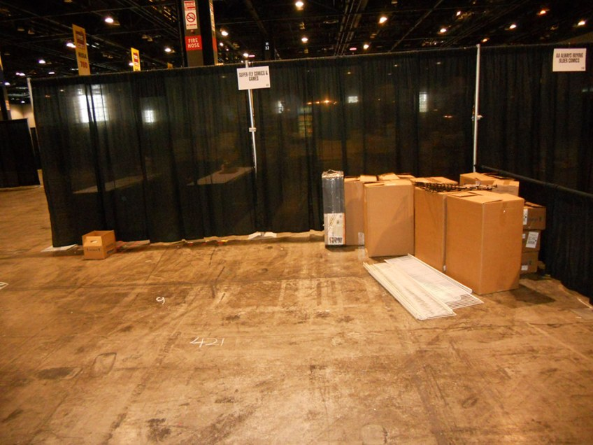 Empty booth