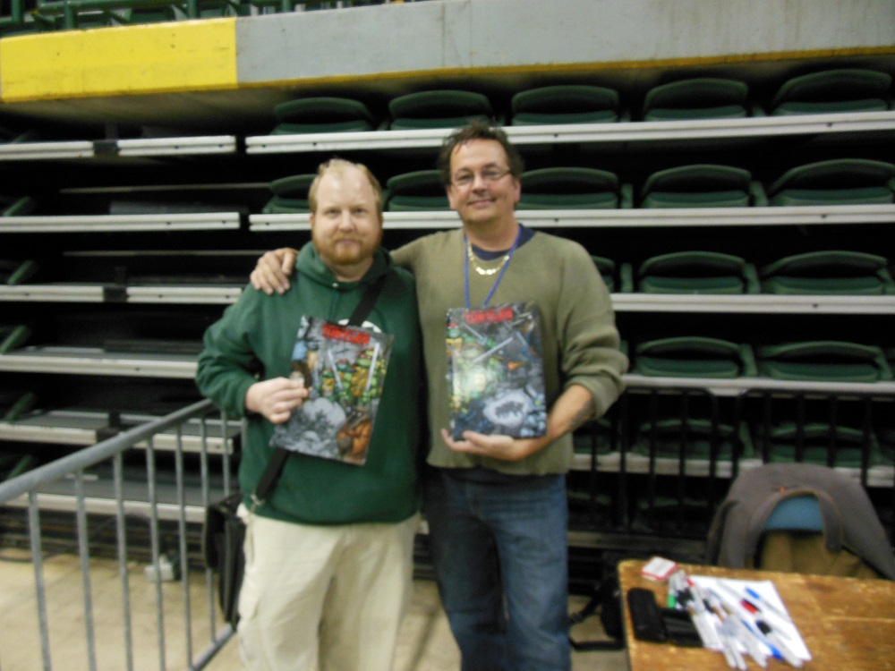 Here I am with Kevin Eastman! COWABUNGA DUDE!