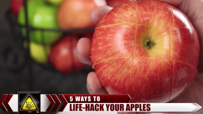 apple slicing hack