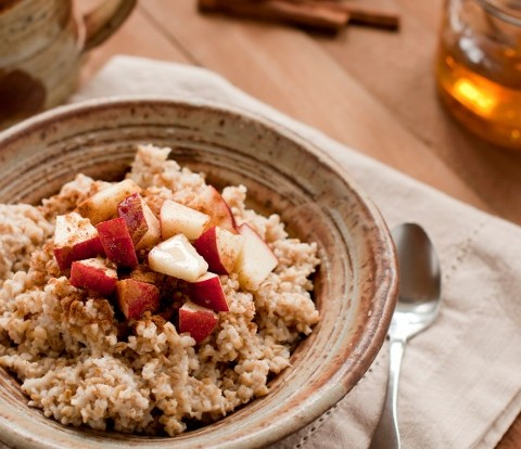 steel cut oatmeal with flax seeds