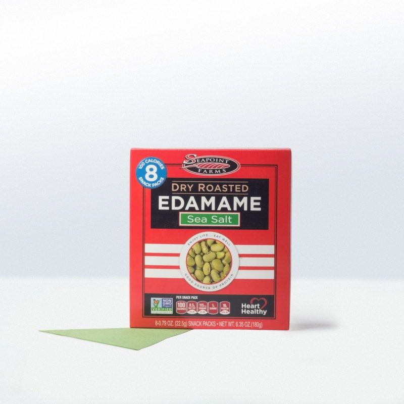 Seapoint Farms 27 ounce and 8 snack packs-Dry Roasted Edamame