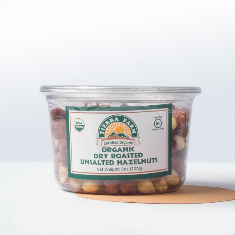 Tierra Farm-Organic Dry RoastedUnsalted Hazelnuts