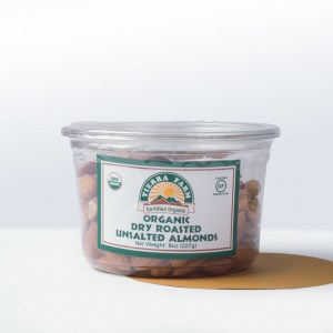 Tierra Farm-Organic UnsaltedDry Roasted Almonds